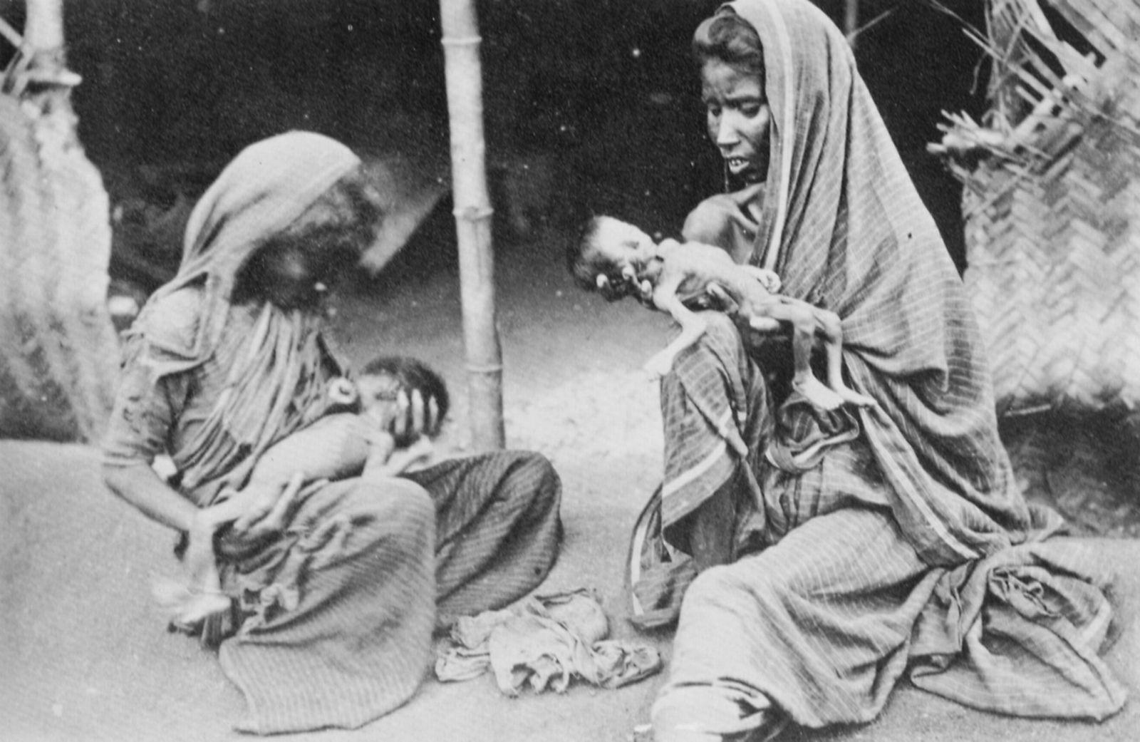 Die indische Hungersnot in der Provinz Madras